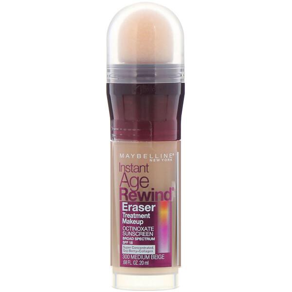 Maybelline, Instant Age Rewind, Eraser Treatment Makeup, 300 Medium Beige,  0.68 fl oz (20 ml)