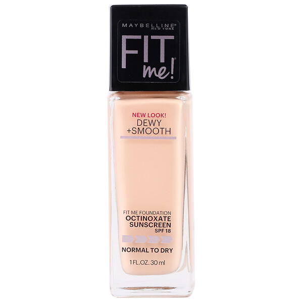 Fit Me, Dewy + Smooth Foundation, 115 Ivory, 1 fl oz (30 ml)