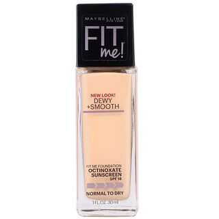 Maybelline, Fit Me, Dewy + Smooth Foundation, 120 Classic Ivory, 1 fl oz (30 ml)