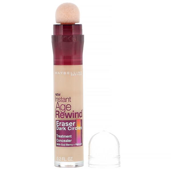 Maybelline, Instant Age Rewind, Eraser Dark Circles Treatment Concealer, 120 Light, 0.2 fl oz (6 ml)