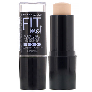 Maybelline, Fit Me, Shine-Free + Balance Stick Foundation, 110 Porcelain, 0.32 oz (9 g) отзывы
