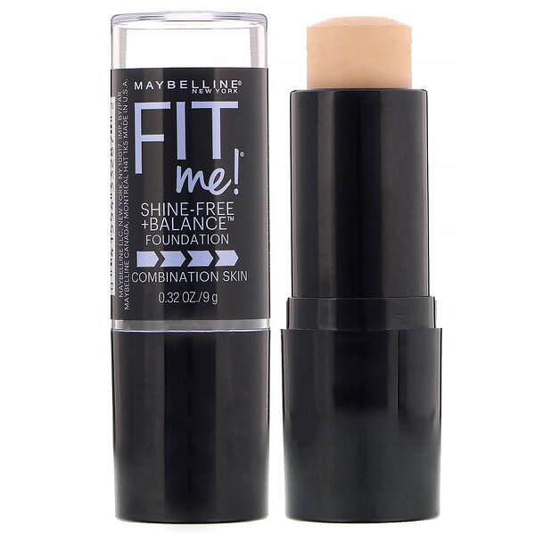 Maybelline, Fit Me, Shine-Free + Balance Stick Foundation, 115 Ivory, 0.32 oz (9 g)