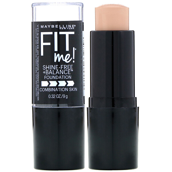 Fit Me, Shine-Free + Balance Stick Foundation, 120 Classic Ivory, 0.32 oz (9 g)
