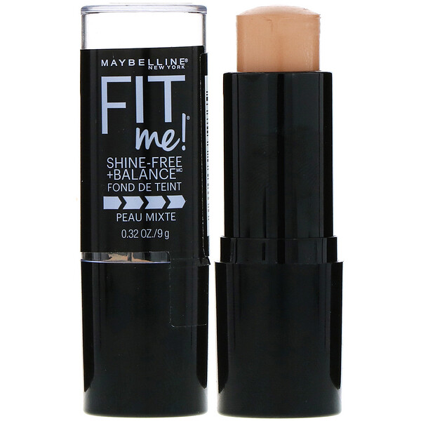 Fit Me, Shine-Free + Balance Stick Foundation, 130 Buff Beige, 0.32 oz (9 g)