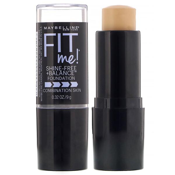 Fit Me, Shine-Free + Balance Stick Foundation, 220 Natural Beige, 0.32 oz (9 g)