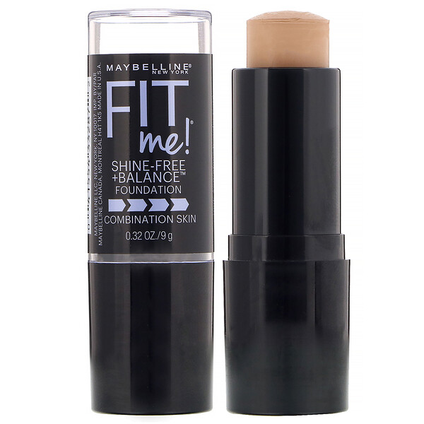 Maybelline, Fit Me, Shine-Free + Balance Stick Foundation, 235 Pure Beige, 0.32 oz (9 g) (Discontinued Item)