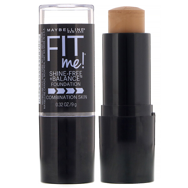 Maybelline, Fit Me, Shine-Free + Balance Stick Foundation, 330 Toffee, 0.32 oz (9 g)