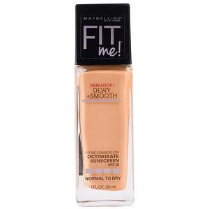 Maybelline, Fit Me, Dewy + Smooth Foundation, 240 Golden Beige, 1 fl oz (30 ml) отзывы