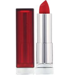 Maybelline, Color Sensational,絲絨啞光唇膏,690 正紅色,0.15 盎司(4.2 克)