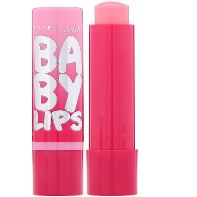 Купить Maybelline Baby Lips, бальзам-блеск для губ, оттенок «розовый» 01, 3, 9 г