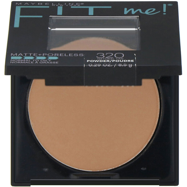 Fit Me, Matte + Poreless Powder, 320 Natural Tan, 0.29 oz (8.5 g)