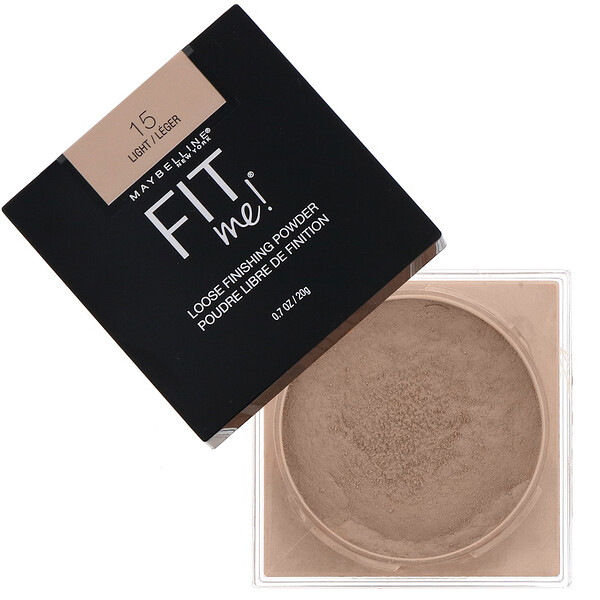 Maybelline, Fit Me, Loose Finishing Powder, 15 Light, 0.7 oz (20 g)