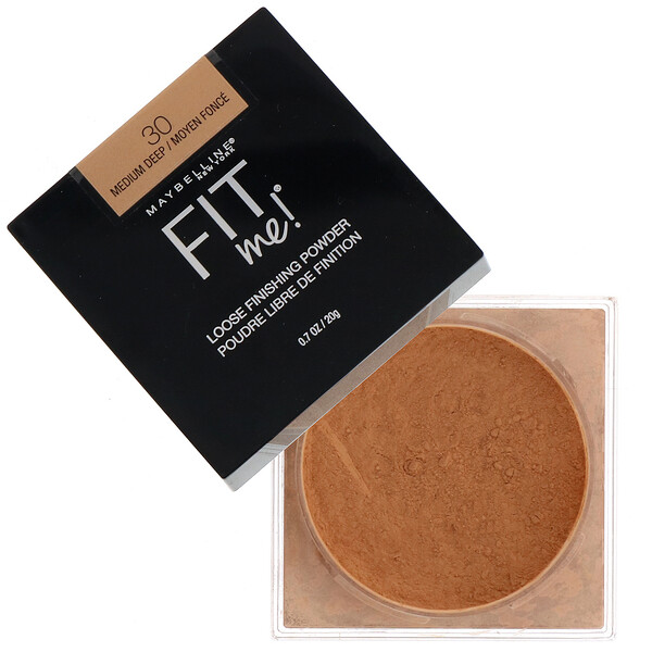 Maybelline, Fit Me, Loose Finishing Powder, 30 Medium Deep, 0.7 oz (20 g) (Discontinued Item)