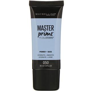 Maybelline, FaceStudio, Master Prime, Primer Base, 050 Hydrate + Smooth, 1 fl oz (30 ml)