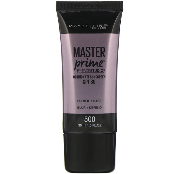 Maybelline, FaceStudio, Master Prime, SPF 30, 500 Blur + Defend, 1 fl oz (30 ml)