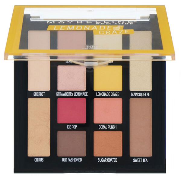Maybelline, Lemonade Craze Eyeshadow Palette, 0.26 oz (7.4 g) (Discontinued Item)