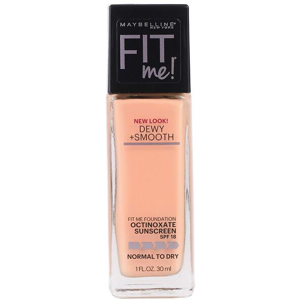 Fit Me, Dewy + Smooth Foundation, 228 Soft Tan, 1 fl oz (30 ml)