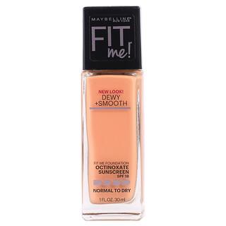 Maybelline, Fit Me, Dewy + Smooth Foundation, 245 Classic Beige, 1 fl oz (30 ml)