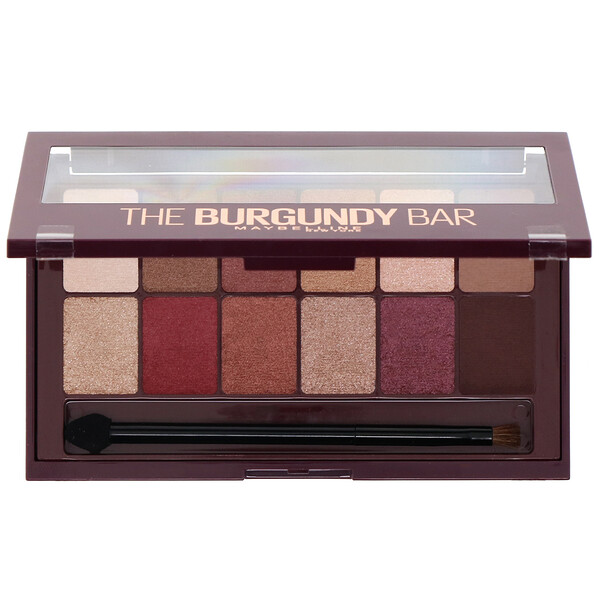 Maybelline, The Burgundy Bar Eyeshadow Palette 200, 0.33 oz (9.6 g) (Discontinued Item)