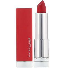 Maybelline, Color Sensational,絢彩長久保濕防水口紅,382 Red for Me 紅色,0.15 盎司(4.2 克)