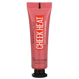Maybelline, Cheek Heat, Gel-Cream Brush, Nude Burn, 0.27 fl oz (8 ml)