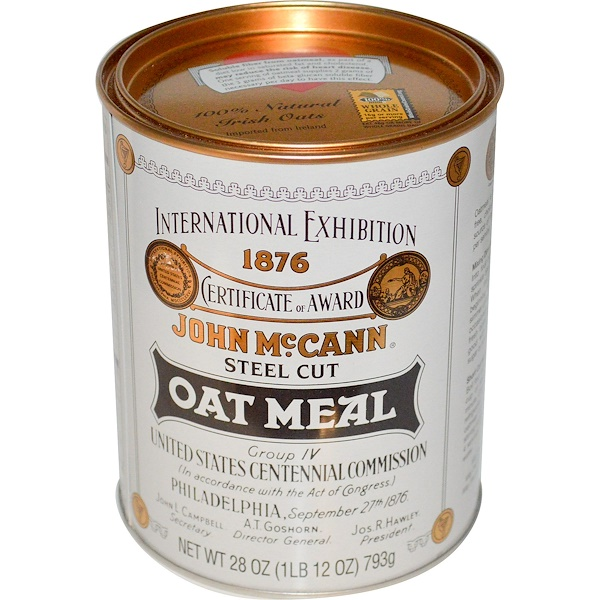 McCann's Irish Oatmeal, Steel Cut Oat Meal, 28 oz (793 g)