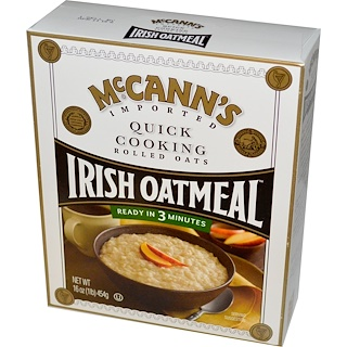 McCann's Irish Oatmeal, Quick Cooking, Rolled Oats, 16 oz (454 g)