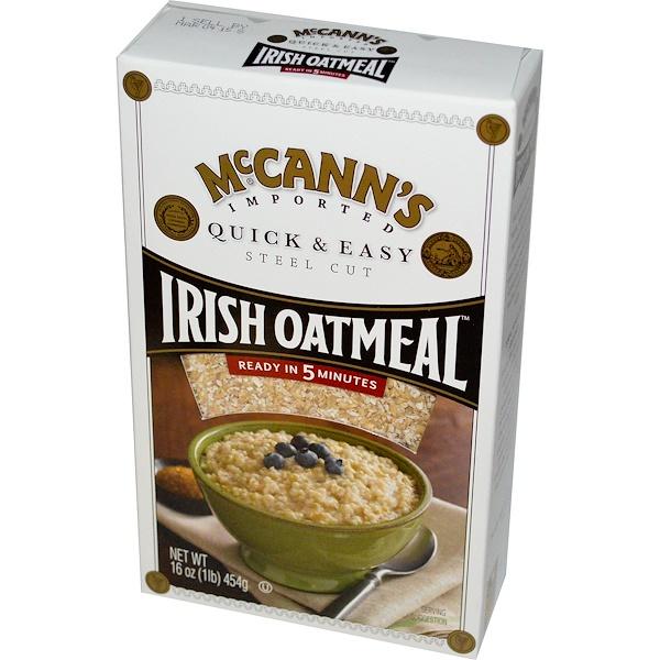 McCann's Irish Oatmeal, 快速,簡單,鋼切燕麥,16盎司(454克)