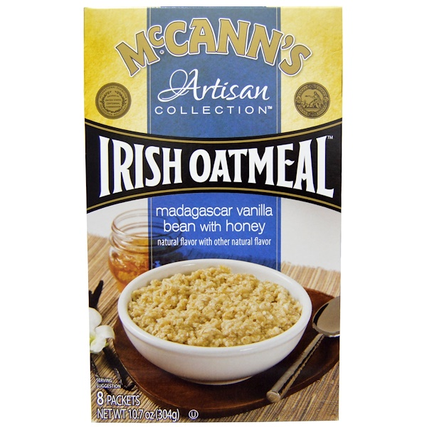 McCann's Irish Oatmeal, Artisan Collection, Irish Oatmeal, Madagascar Vanilla Bean with Honey, 8 Packets, 10.7 oz (304 g) (Discontinued Item)