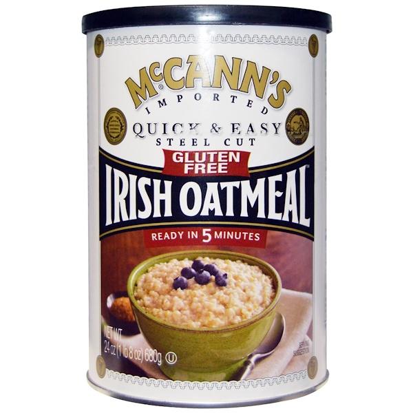 McCann's Irish Oatmeal, アイリッシュオートミール、 スティールカット、 グルテンフリー、 24 オンス (680 g) (Discontinued Item)