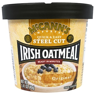 McCann's Irish Oatmeal, Quick & Easy Steel Cut, Original, 1.41 oz (40 g)