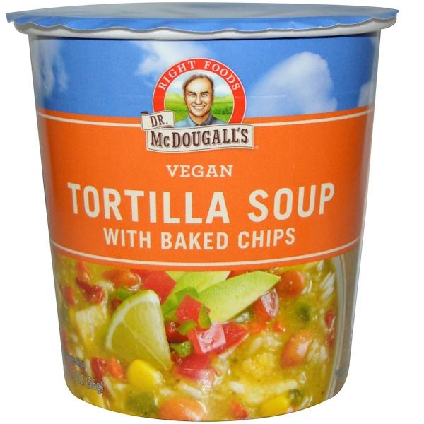 Dr. McDougall's, Суп с тортильей, с запеченными чипсами, 2.0 унции (56 г)