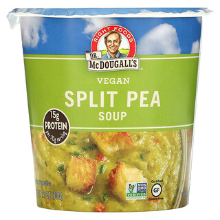 Dr. McDougall's, Vegan Split Pea Soup, 2.5 oz (70 g)
