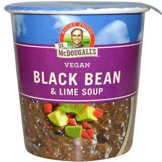 Dr. McDougall's, Black Bean & Lime Soup, 3.4 oz (95 g)