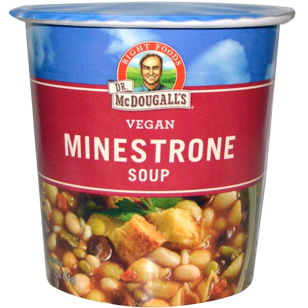 Dr. McDougall's, Минестроне с макаронами, 2,3 унции (65 г)