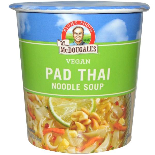 Dr. McDougall's, Тайская лапша, Суп с лапшой, Свежий вкус, 2 унции (57 г)
