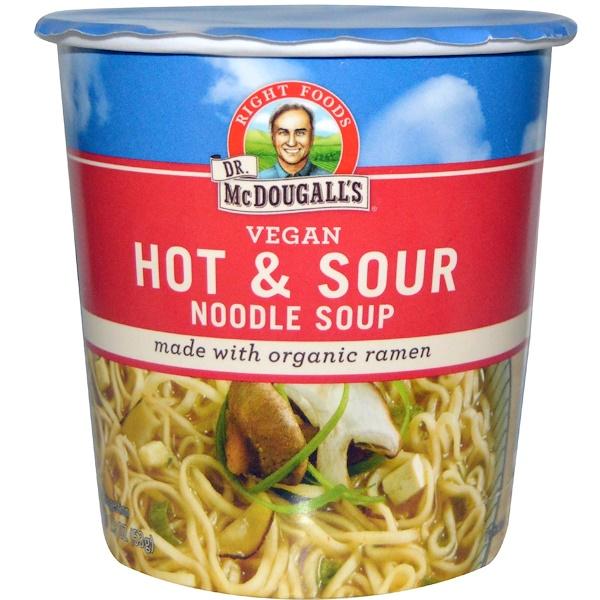 Dr. McDougall's, Горячий кислый рамэн, 1.9 унций (54 г)