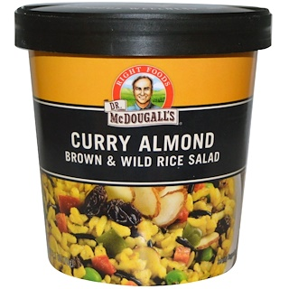 Dr. McDougall's, Almendra del curry, ensalada de arroz marrón & salvaje, 2.5 oz (70 g)