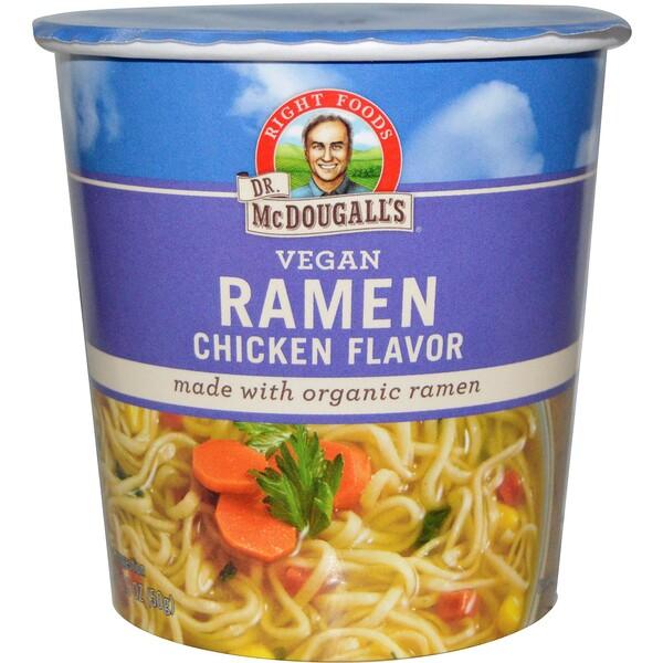Dr. McDougall's, Лапша с курицей, Вегетарианский продукт, 1,8 унции (51 г)
