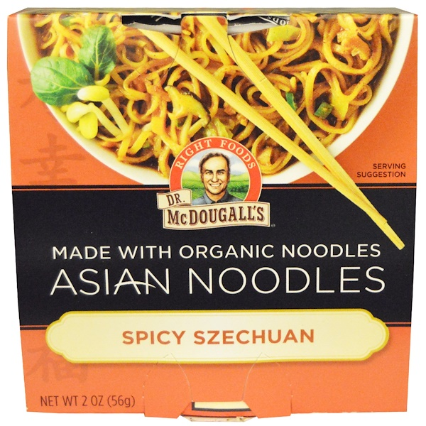Dr. McDougall's, Азиатские макаронные изделия, пряный сычуань, 2 унции (56 г) (Discontinued Item)
