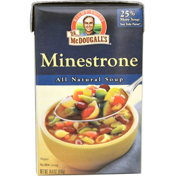 Dr. McDougall's, All Natural Soup, Minestrone, 18.0 oz (510 g) (Discontinued Item)