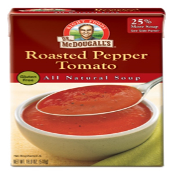 Dr. McDougall's, All Natural Soup, Roasted Pepper Tomato, 18.0 oz (510 g) (Discontinued Item)