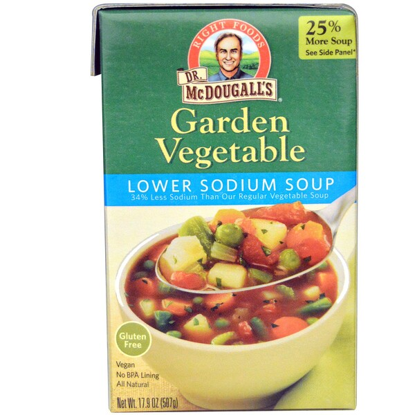 Dr. McDougall's, Lower Sodium Soup, Garden Vegetable, 17.9 oz (507 g) (Discontinued Item)