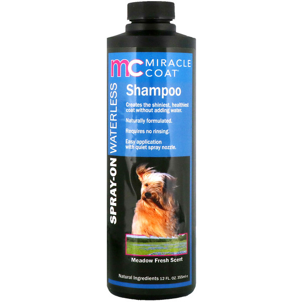 Miracle Coat, Spray-On Waterless Shampoo, For Dogs, Meadow Fresh Scent, 12 fl oz (355 ml)