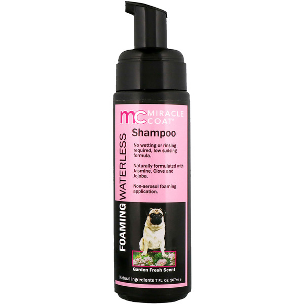 Miracle Coat, Foaming Waterless Shampoo, For Dogs, Garden Fresh Scent, 7 fl oz (207 ml)
