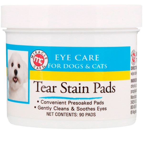 Eye Care, Tear Stain Pads, For Dogs & Cats, 90 Pads