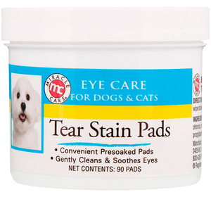 Miracle Care, Eye Care, Tear Stain Pads, For Dogs & Cats, 90 Pads отзывы