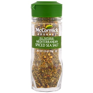 McCormick Gourmet, All Natural, Mediterranean Spiced Sea Salt, 2.5 oz (70 g)