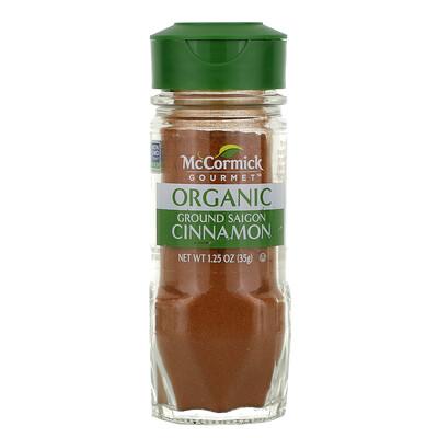 Купить McCormick Gourmet Organic, Ground Saigon Cinnamon, 1.25 oz (35 g)