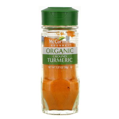 Купить McCormick Gourmet Organic, Ground Turmeric, 1.37oz (38 g)